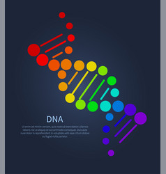 Dna deoxyribonucleic acid chain nucleotides poster vector