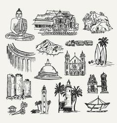 drawing sri lanka places vector image