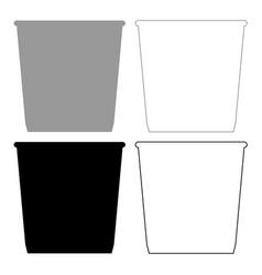 Dustbin or trash basket icon grey and black vector