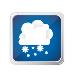 emblem cloud with snow icon vector image