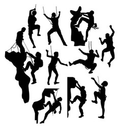Extreme Climber Sport Silhouettes vector