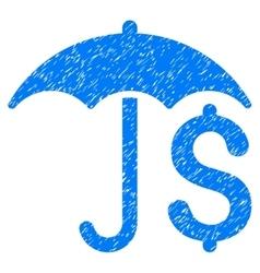 Financial Umbrella Grainy Texture Icon vector