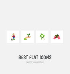 Flat icon seed set of man care packet and other vector