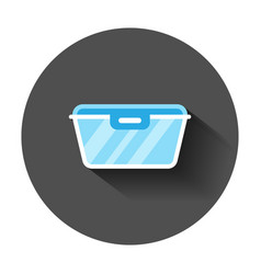 food container icon in flat style kitchen bowl vector image