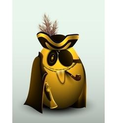 Golden egg pirate captain vector