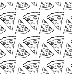 Hand Drawn Ink Pizza vector