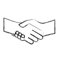 Hand shake isolated icon vector