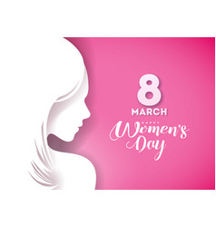 happy womens day greeting card design with sexy vector image