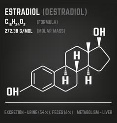 hormone molecule image vector image