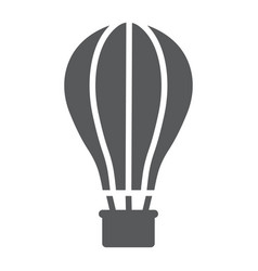 Hot air ballon glyph icon travel and tourism vector