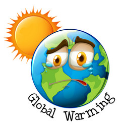 Icon of global warming vector