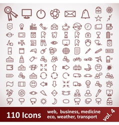 Icons Large set 110 Items vector