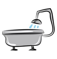 image bath - bathtub or color vector image
