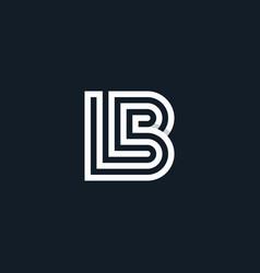 Initial logo bl geometric line vector