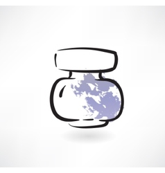 ink jar grunge icon vector image