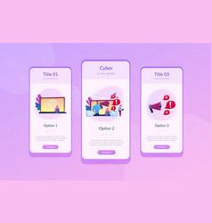 Internet shaming app interface template vector