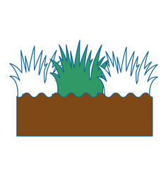 Isolated field grass vector