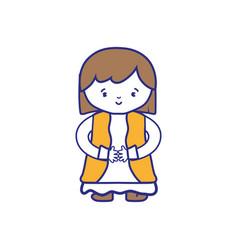 Isolated girl design vector