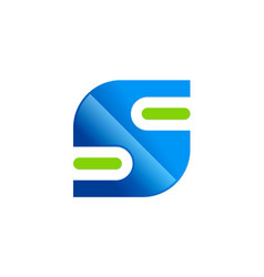 letter s technology logo vector image