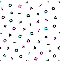 Memphis 80s shapes seamless pattern background vector