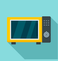 microwave oven icon flat style vector image