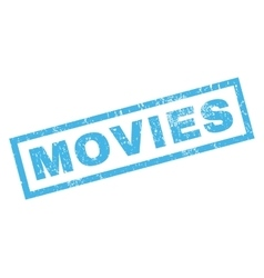 Movies Rubber Stamp vector