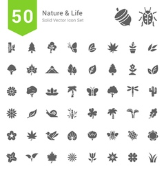 Nature and Life Solid Icon Sets vector