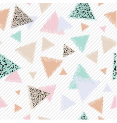 Pastel graphic with triangles vector