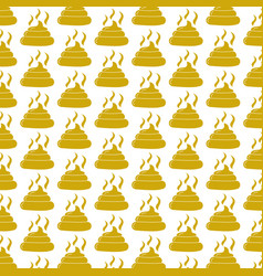 Pattern background feces icon vector