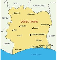 Republic - Ivory Coast - map vector