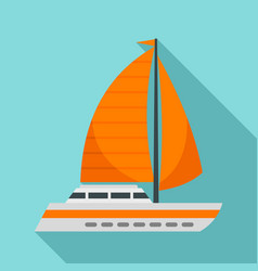 sail ship icon flat style vector image