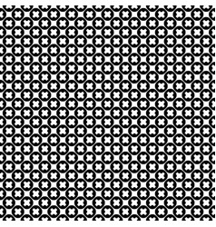 seamless x pattern crosses circles vector image