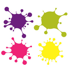 set of colored blobs vector image