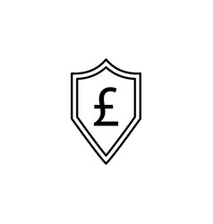 shield pound icon element of finance signs and vector image