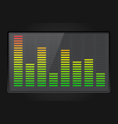 Sound equalizer on dark background vector