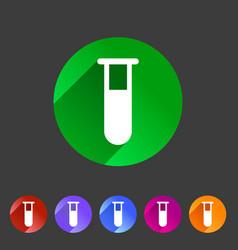 test tube glass icon flat web sign symbol logo vector image