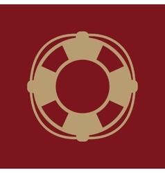 The lifebuoy icon Lifebelt symbol Flat vector