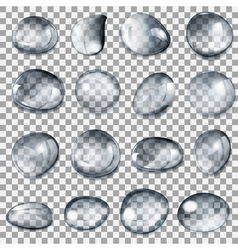 Transparent gray drops vector image