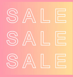 Trendy sale vector