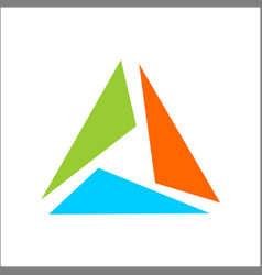 triangle logo abstract template vector image