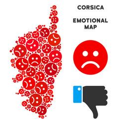 Unhappy corsica france island map mosaic of vector