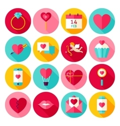 Valentines Day Love Flat Icons vector