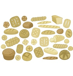Various Breads Set vector