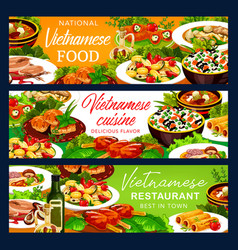Vietnamese vegetable rice with fish meat dessert vector