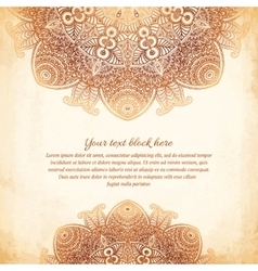 Vintage tribal style lacy abstract background vector