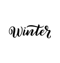 Winter handlettering inscription winter logos and vector