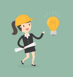 young engineer get an idea vector image