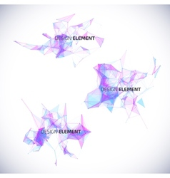 Collection abstract geometric backgrounds vector image vector image
