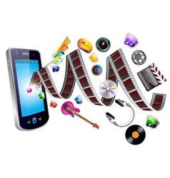 mobile multimedia vector image vector image