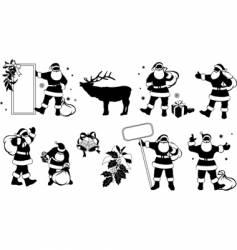 Santa Claus silhouette vector image vector image